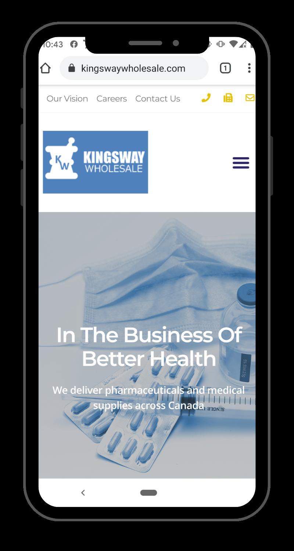 Kingsway Wholesale Mobile Friendly Website