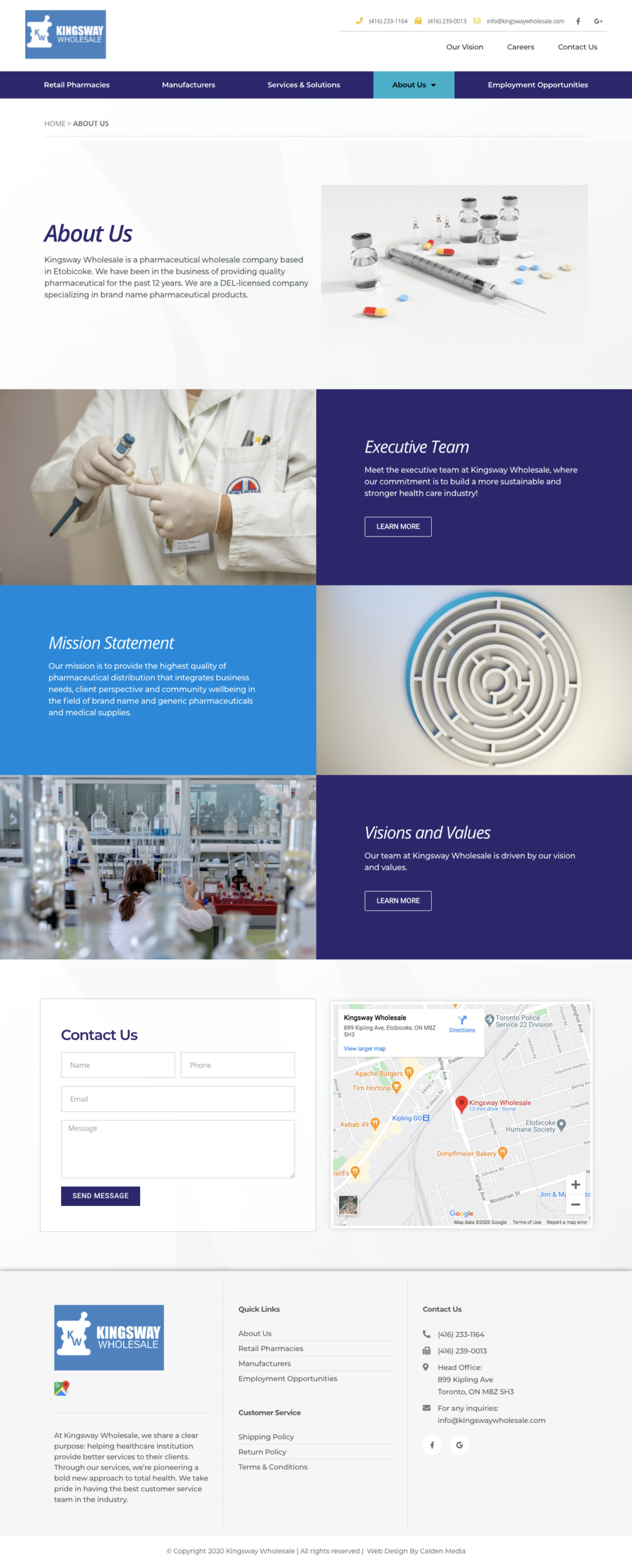 Web Design For Medical Suppliers