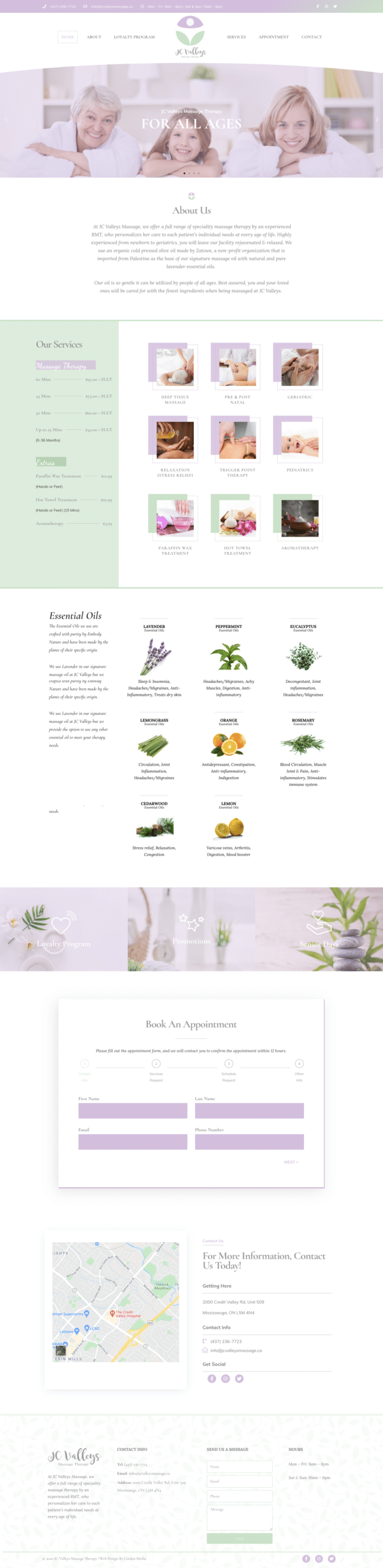 Massage Clinic Web Design