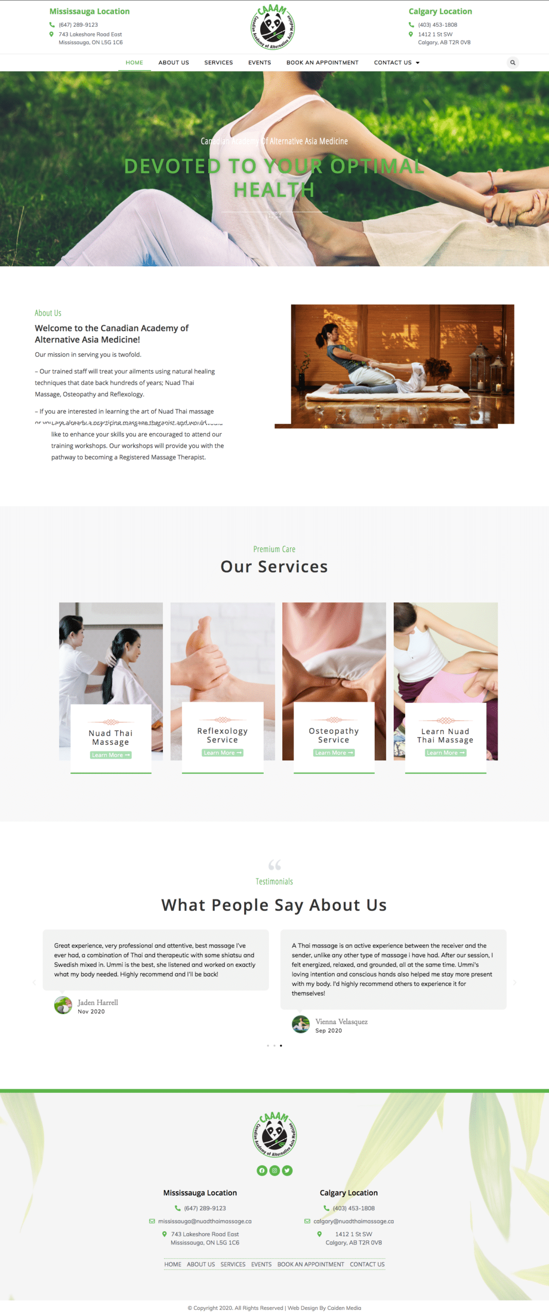 Thai Massage Web Design