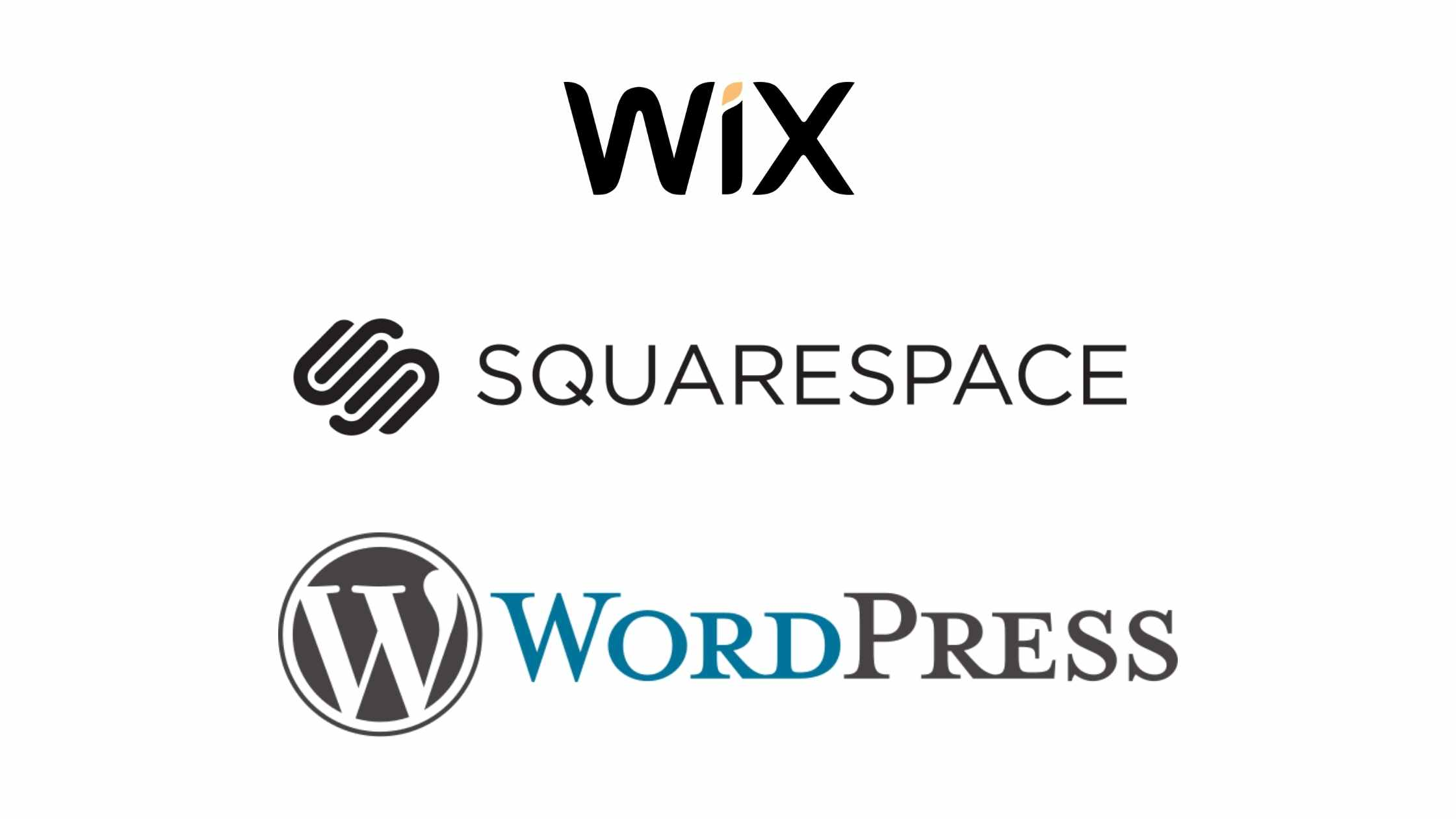 wix squarespace wordpress