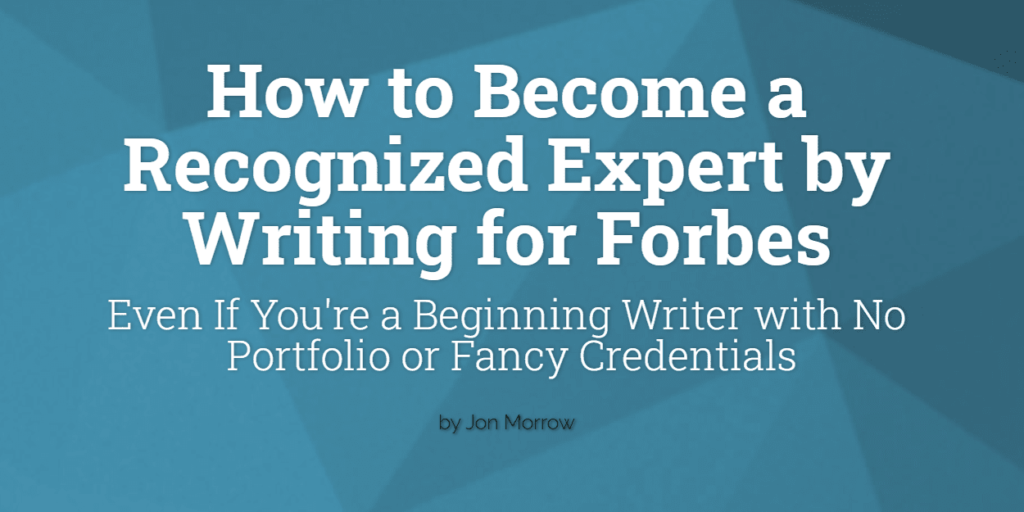 Image of Forbes' guest blogging guidelines