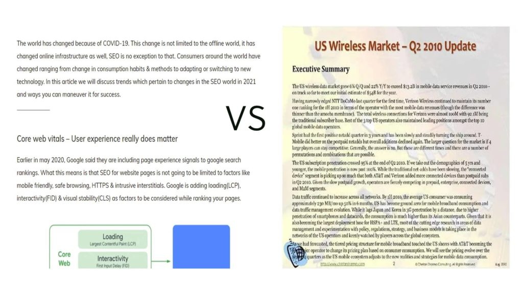 usage of white space explained for on-page SEO